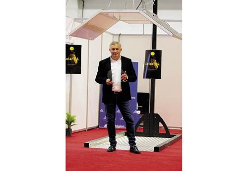 Le trophée Horse Innov pour Frédéric Joubert et son solarium intelligent