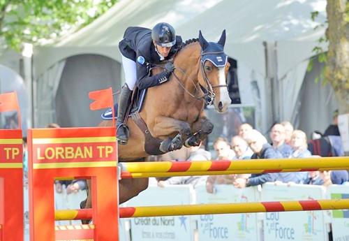 Harold Boisset gagna le petit GP avec T'Obetty du Domaine (© Jumping International de Maubeuge)