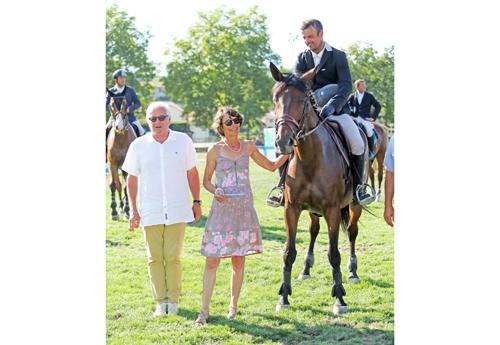 Avec Mme Fedry, naisseuse du cavalier et du cheval