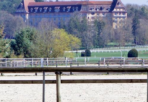 Une magnifique vue sur l'Ermitage depuis la carrière couverte (©ER)