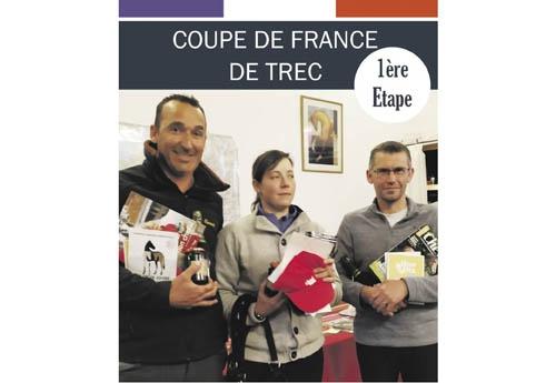 Le podium de la 1re étape de la Coupe de France de TREC. (© Droits DR)