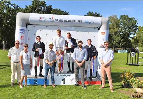 Le podium CSO (© FFE/PSV)