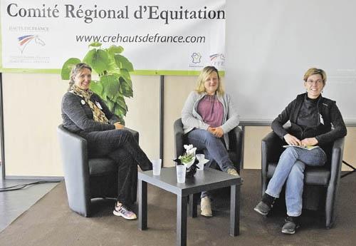 Trois des intervenantes Havley Sheppard, Fabienne Letot et Stéphanie Cailleux