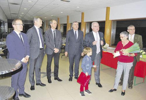 Jean-Claude Meng lors de la cérémonie de remise des insignes de chevalier du mérite agricole