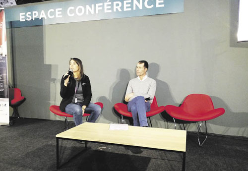 Conférence sur le métier de coach avec Bertrand Lebarbier (à droite)
