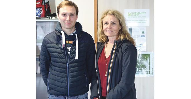 Marie Lamotte Trihan et son cavalier Benjamin Jegousso