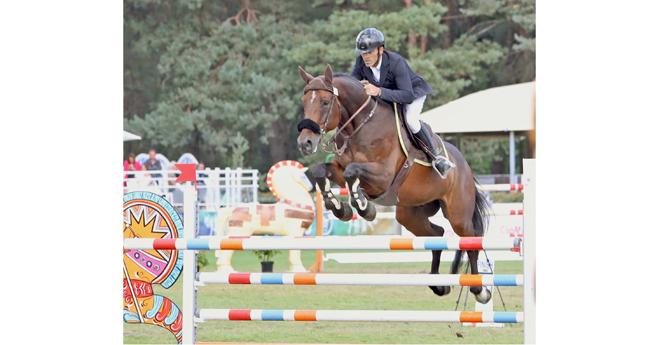 Le champion des 6 et 7 ans Cheyenne de la Violle à Fontainebleau (© ER)