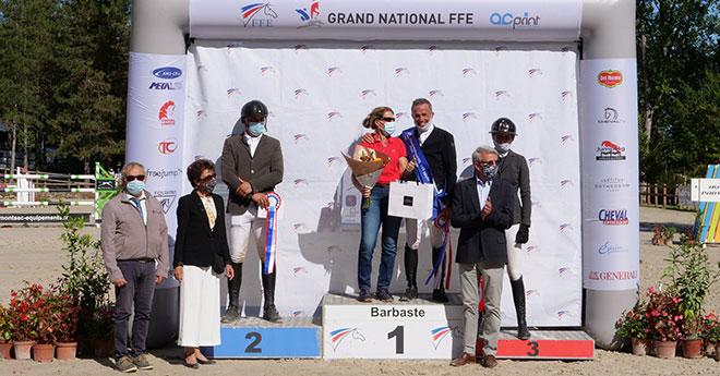 Le podium (© FFE/PSV)