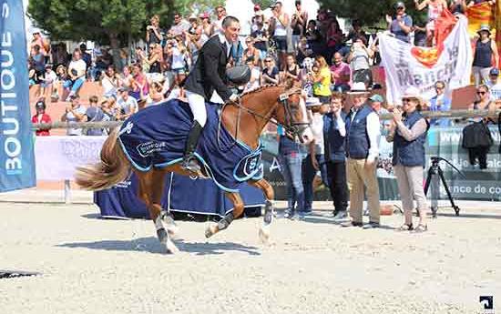Aujourd'hui très bon gagnant, récent Champion de France As Elite, le PFS Champagne d'Ar Cus avait remporté au Sologn'Pony le Championnat des 2 ans, des 3 ans et des 6 ans D. Ph. Agence Ecary Ldd