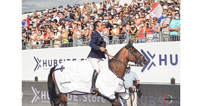 victoire du Rhône-Alpin Olivier Perreau et Venizia d'Aiguilly (l'Hubside Jumping )